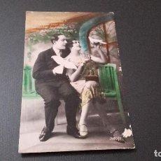Postales: POSTAL NOVIOS - ESCRITA DESDE EL FRENTE EN LA GUERRA 1938. Lote 82036408