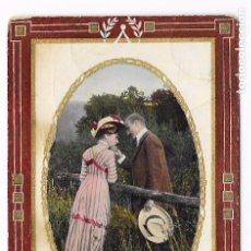 Postales: PAREJA GALANTE . CIRCULADA LISBOA 1910. Lote 82926508