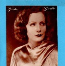 Postales: POSTAL DE ARTISTA DE CINE GRETA GARBO EDITOR GT ESCRITA EL AÑO 1930 . Lote 82971108