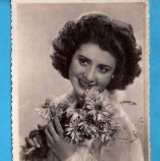 Postales: POSTAL BELLA DAMA EDITO FRANCIA ESCRITA AÑO 1945. Lote 84712164
