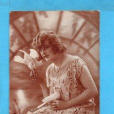 Postales: POSTAL BELLA DAMA EDITO FRANCIA ESCRITA EL AÑO 1926. Lote 85113040