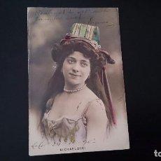 Postales: TARJETA POSTAL MICHAELUCCI ACTRIZ - CIRCULADA 1903 - COLOREADA . Lote 85923220