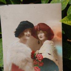 Postales: ANTIGUA POSTAL P.C. PARIS CON DOS MUJERES 1921.. Lote 61369335