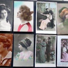 Postales: 8 POSTALES DE GALANTES Y MUJERES DE PRINCIPOS DEL SIGLO XX. CIRCULADAS. VER FOTOS DEL REVERSO . Lote 87046920