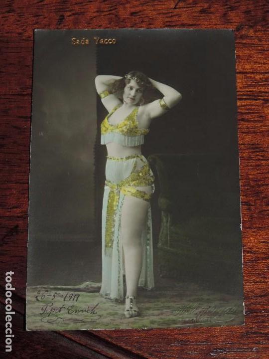 Postales: FOTO POSTAL DE SADA YACCO, MUJER, CIRCULADA EN 1919, ED. ESPLUGAS. - Foto 1 - 87254708