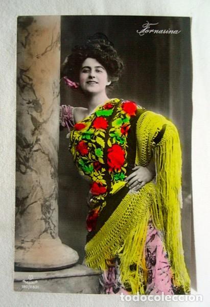 (TGM-10) POSTAL FOTOGRÁFICA FORNARINA. ESCRITA EN1909, SIN SELLO (Postales - Galantes y Mujeres)