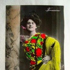 Postales: (TGM-10) POSTAL FOTOGRÁFICA FORNARINA. ESCRITA EN1909, SIN SELLO. Lote 87438980