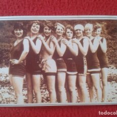 Postales: POSTAL POST CARD THE NOSTALGIA POSTCARD VINTAGE 1927 CHICAS BAÑISTAS BATHING GIRLS ISLE OF MAN ISLA. Lote 88107620