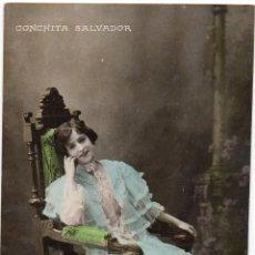 Postales: PS7700 CONCHITA SALVADOR. POSTAL FOTOGRÁFICA. VIOLA. CIRCULADA. PRINC. S. XX. Lote 89182952