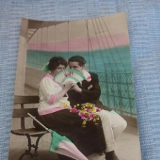 Postales: POSTAL ROMANTICA COLOREADA. Lote 89743752