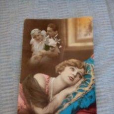 Postales: POSTAL ROMANTICA COLOREADA ESCRITA. Lote 89744024