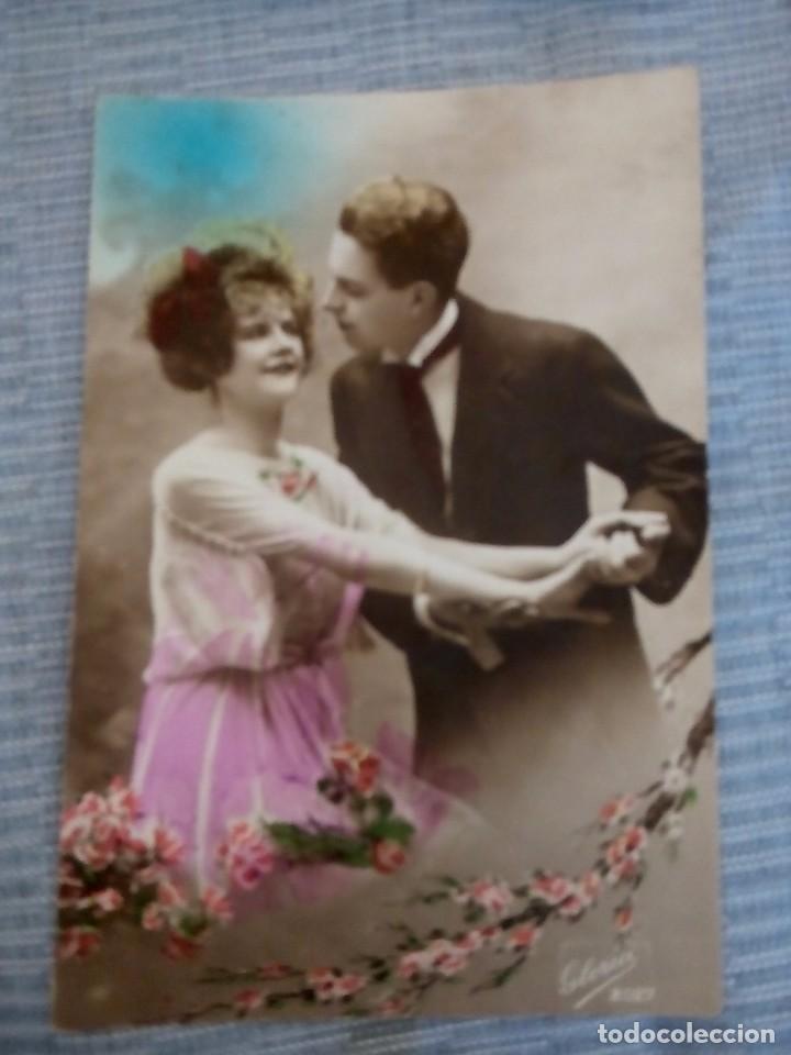 POSTAL ROMANTICA COLOREADA ESCRITA (Postales - Postales Temáticas - Galantes y Mujeres)