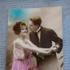 Postales: POSTAL ROMANTICA COLOREADA ESCRITA. Lote 89746136