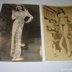 Postales: DOS ANTIGUAS POSTALES.....RITA HAYWORTH...EN GILDA.. Lote 90149912