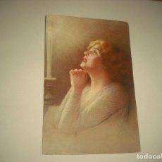 Postales: PRECIOSA POSTAL ITALIANA DE MUJER ORANDO .. Lote 91306255