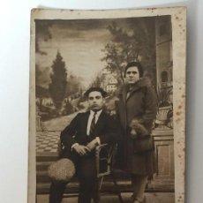 Postales: ANTIGUA FOTO POSTAL PAREJA (AÑO 1928) DEDICATORIA ROMÁNTICA - FIGUERAS . Lote 93871875