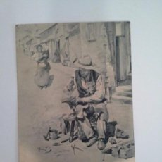 Postales: POSTAL ZAPATERO REMENDÓN. HAUSER Y MENET. DE BLANCO Y NEGRO REVISTA ILUSTRADA.. Lote 93824610
