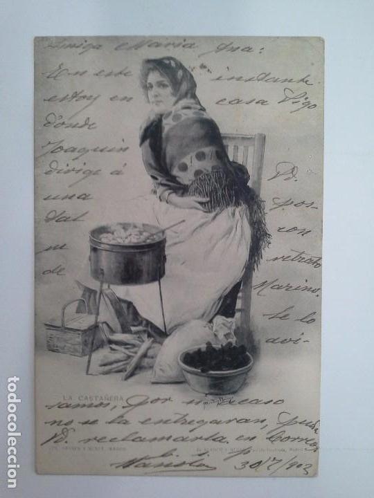 POSTAL LA CASTAÑERA. HAUSER Y MENET. DE BLANCO Y NEGRO REVISTA ILUSTRADA. (Postales - Postales Temáticas - Galantes y Mujeres)