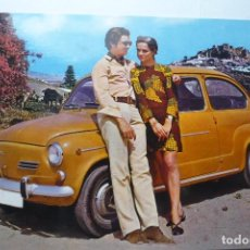 Postales: POSTAL PAREJA CON SEAT -ESCRITA. Lote 95536179