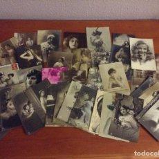 Postales: LOTE 41 POSTALES ANTIGUAS - MUJERES . Lote 95773519
