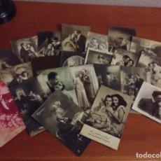 Postales: LOTE 24 POSTALES ANTIGUAS - PAREJAS - LA MAYORÍA, ESCRITAS. Lote 95774339
