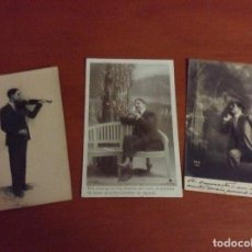 Postales: LOTE 3 POSTALES ANTIGUAS - HOMBRES. Lote 95774523