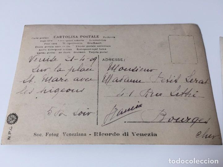 Postales: 2 FOTOS ANTIGUAS DE VENECIA (SAN MARCO) 1909 - Foto 3 - 95961379