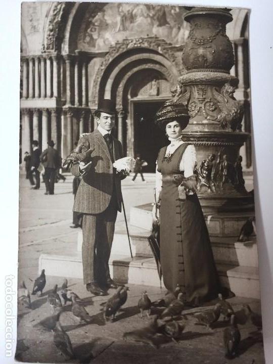 Postales: 2 FOTOS ANTIGUAS DE VENECIA (SAN MARCO) 1909 - Foto 4 - 95961379