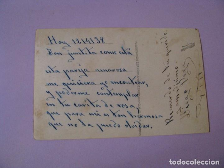 Postales: TARJETA POSTAL. PAREJA. ED. MARGARA, ESPAÑA. ESCRITA. 1938. - Foto 2 - 97085007