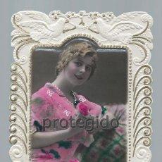 Postales: POSTAL. TROQUELADA. 1926. MUCHAS FELICIDADES.. Lote 98774667