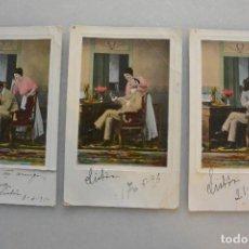 Postales: LOTE 3 TARJETAS POSTALES CONSECUTIVAS . 1910. CIRCULADAS. Lote 99068811