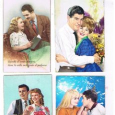 Postales: 4 POSTALES ROMANTICAS. Lote 99420947