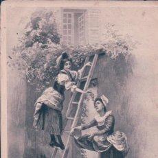 Postales: POSTAL MUJERES ESCALERA - RECOGIENDO UVA - CIRCULADA 1901. Lote 99830787