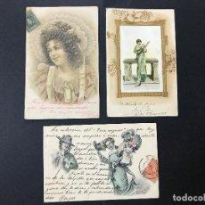 Postales: 3 PRECIOSAS POSTALES ROMANTICAS DE PP DEL XX CIRCULADAS. Lote 100091099