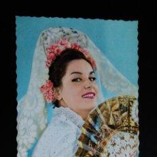 Postales: ANTIGUA POSTAL. CHICA CON MANTILLA Y ABANICO. Lote 100315127