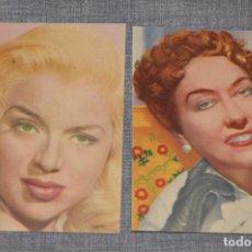Postales: VINTAGE - LOTE DE DOS POSTALES SIN CIRCULAR - DIANA DORS / GLORIA SWANSON - HAZ OFERTA. Lote 100753331