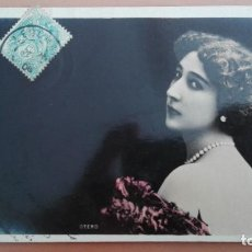 Postales: POSTAL FOTOGRAFICA ARTISTA CUPLETISTA LA BELLA OTERO EDIC FRANCESA REUTLINGER CIRCULADA 1906. Lote 101884491