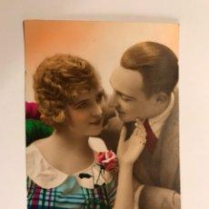"Postales: POSTAL ROMÁNTICA FRANCESA ""PAREJA DE ENAMORADOS"" (H.1940?). Lote 102276176"