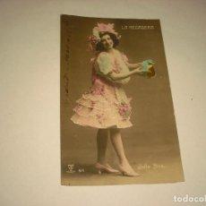 Postales: LA REGADERA, ARTISTA CUPLETISTA . ESCRITA 1908. Lote 102602171