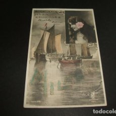 Postais: MUJER CON BARCOS POSTAL 1906 . Lote 102839451