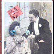 Postales: POSTAL GALANTEO. FRANCIA. CIRCULADA, 1907.. Lote 103036507