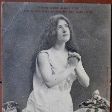 Postales: POSTAL HUMORÍSTICA FRANCESA SOBRE EL PEINADO DE SANTA CATALINA. 1912.. Lote 103038171