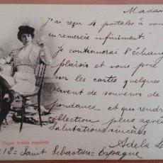 Postales: POSTAL BERNAL Y PAGAN ARTISTA ESPAÑOLA REVERSO SIN DIVIDIR CIRCULADA 1902 PERFECTO ESTADO. Lote 105791627