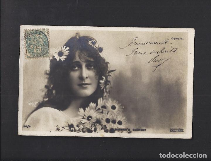 ANTIGUA POSTAL JOVEN. CIRCULADA 1906 (Postales - Postales Temáticas - Galantes y Mujeres)