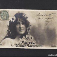 Postales: ANTIGUA POSTAL JOVEN. CIRCULADA 1906. Lote 106081691