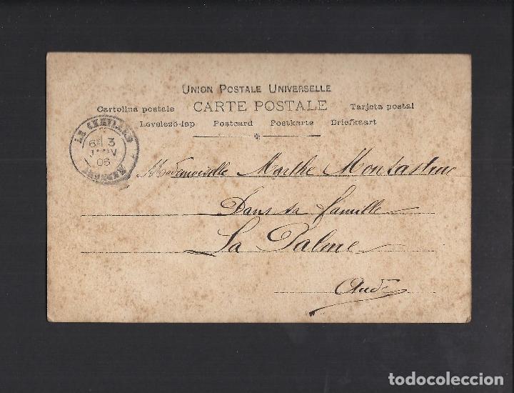 Postales: Antigua postal joven. Circulada 1906 - Foto 2 - 106081691