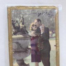Postales: POSTAL ROMANTICA TROQUELADA MARCO DORADO. AÑOS 20. Lote 106988051