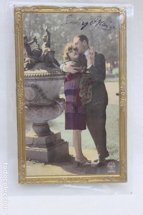 Postales: POSTAL ROMANTICA TROQUELADA MARCO DORADO. AÑOS 20 - Foto 2 - 106988051