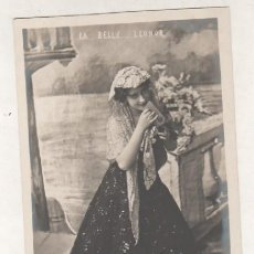 Postales: POSTAL FOTOGRÁFICA DE LA ARTISTA, CUPLETISTA LA BELLE LEONOR FOTOGRAFO MANUEL PARIS. REVERSO SIN DIV. Lote 108776007