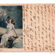 Postales: FOTO REUTLINGER. CON SELLO ALFONSO XIII PELON.. Lote 110237827